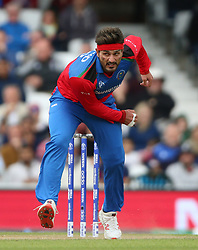 Afghanistan's Hamid Hassan during the ICC Cricket World Cup Warm up match at The Oval, London.