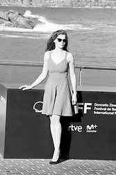 September 22, 2018 - San Sebastian, Spain - (EDITOR'S NOTE: Image was converted to black and white) Laetitia Casta attends the  'A Faithful Man' Photocall during the 66th San Sebastian Film Festival in San Sebastian on September 22, 2018 in San Sebastian, Spain. (Credit Image: © Manuel Romano/NurPhoto/ZUMA Press)