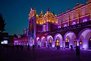 Sukiennice na Rynku Głównym w Krakowie, Polska<br /> Cloth Hall on the Market Square in Cracow by night, Poland