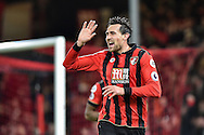 AFC Bournemouth Defender, Charlie Daniels (11) celebrates after opening the scoring 1-0 goal during the Premier League match between Bournemouth and Arsenal at the Vitality Stadium, Bournemouth, England on 3 January 2017. Photo by Adam Rivers.