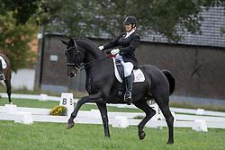 Op den Kamp Anouk, BEL, Keandro Farena<br /> Nationaal Kampioenschap LRV <br /> Ponies Dressuur - Oudenaarde 2020<br /> © Hippo Foto - Dirk Caremans<br /> 04/10/2020