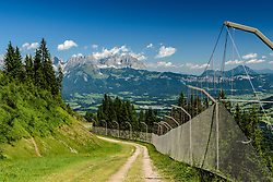 THEMENBILD - Der Blick in das Gschöss, aufgenommen am 26. Juni 2017, Kitzbühel, Österreich // The view into the Gschöss at the Streif, Kitzbühel, Austria on 2017/06/26. EXPA Pictures © 2017, PhotoCredit: EXPA/ Stefan Adelsberger