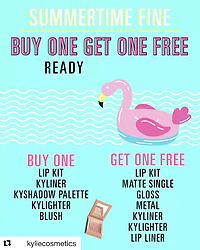 """Kris Jenner releases a photo on Instagram with the following caption: """"Amazing summer promotion on KylieCosmetics.com! Buy one get one free now! #kyliecosmetics #proudmama #Repost @kyliecosmetics\n\u30fb\u30fb\u30fb\nBig summer surprise for you today! Buy one get one FREE starts NOW at KylieCosmetics.com! Buy any lip kit, Kyliner, kyshadow palette, Kylighter or blush and pick a free lip kit, matte single, gloss, metal, Kyliner, Kylighter or lip liner! While supplies last!\ud83c\udfdd\u2600\ufe0f\ud83d\udca6"""". Photo Credit: Instagram *** No USA Distribution *** For Editorial Use Only *** Not to be Published in Books or Photo Books ***  Please note: Fees charged by the agency are for the agency's services only, and do not, nor are they intended to, convey to the user any ownership of Copyright or License in the material. The agency does not claim any ownership including but not limited to Copyright or License in the attached material. By publishing this material you expressly agree to indemnify and to hold the agency and its directors, shareholders and employees harmless from any loss, claims, damages, demands, expenses (including legal fees), or any causes of action or allegation against the agency arising out of or connected in any way with publication of the material."""