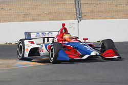 September 14, 2018 - Sonoma, CA, U.S. - SONOMA, CA - SEPTEMBER 14: Matheus Leist exits the Turn 9A area during the Verizon IndyCar Series practice for the Grand Prix of Sonoma on September 14, 2018, at Sonoma Raceway in Sonoma, CA. (Photo by Larry Placido/Icon Sportswire) (Credit Image: © Larry Placido/Icon SMI via ZUMA Press)