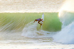Rookie Joan Duru of France advances to Round Four of the Corona Open J-Bay after defeating Adriano de Souza of Brazil in Heat 1 of Round Three in pumping overhead conditions at Supertubes, Jeffreys Bay, South Africa.