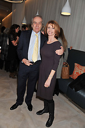 GERALD SCARFE and JANE ASHER at a party to celebrate the publication of Fame Game by Louise Fennell held at Grace, West Halkin Street, London on 12th March 2013.