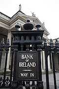 Bank of Ireland Way In sign, College Green branch, Dublin 2. The bank received a 3.5 billion euro Irish government bailout following the 2008 financial crisis.