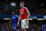 Michael Carrick during the Barclays Premier League match between Chelsea and Manchester United at Stamford Bridge, London, England on 7 February 2016. Photo by Ellie Hoad.