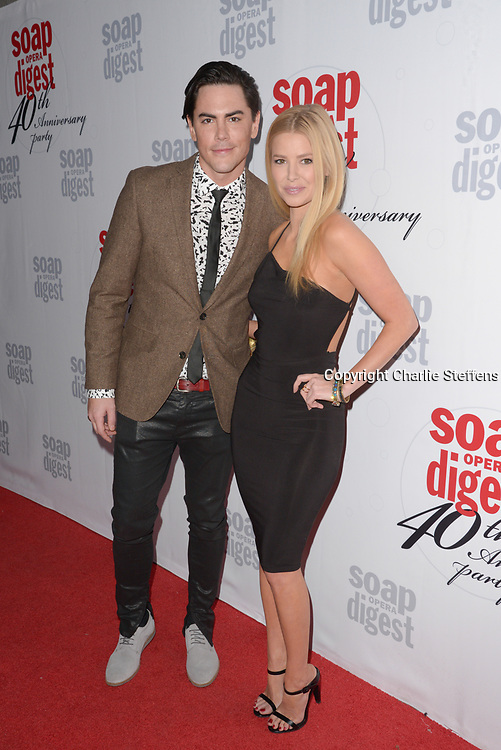 TOM SANDOVAL (L) and ARIANA MADIX at Soap Opera Digest's 40th Anniversary party at The Argyle Hollywood in Los Angeles, California