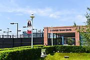 Main Entrance to Lastinger Tennis Center on Chapman University Campus