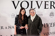Celia Blanco and Pilar Bardem attending the opening of the movie Volver a Nacer in Madrid.
