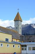 The corrugated iron-roofed church of Nuestra Señora de la Merced. Ushuaia, Republic of Argentina. 12Feb16