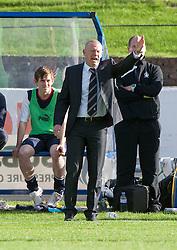 Falkirk's manager Gary Holt.<br /> Cowdenbeath 1 v 0 Falkirk, 14/9/2013.<br /> ©Michael Schofield.