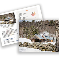 Sugar House New Hampshire with recipe on the back. 5x7 Greeting Card 100% Recycled Paper Made in USA