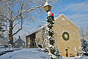 Winter Snow, Berks Co., PA Scene, Gring's Mill at Christmas