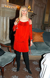 MARGARITA WENNBERG at a dinner hosted by Krug champagne at Claridge's, Brooke Street, London on 14th February 2006.<br /><br />NON EXCLUSIVE - WORLD RIGHTS