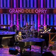 Country music singer Ronnie Milsap performs onstage at the Grand Ole Opry Ryman Stage in downtown Nashville, Tennessee on Friday, November 13, 2015. (Alex Menendez via AP)