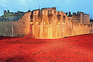 Remembrance Sunday, Tower of London World War One poppy display, Blood Swept Lands and Seas of Red