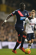 Moussa Sissoko of Newcastle United in action. Barclays Premier league match, Tottenham Hotspur v Newcastle Utd at White Hart Lane in London on Sunday 13th December 2015.<br /> pic by John Patrick Fletcher, Andrew Orchard sports photography.