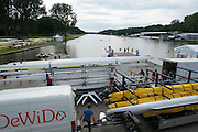 Amsterdam. NETHERLANDS.  General Views of crews rigging their boat after arriving at the venue, for the 2014 FISA  World Rowing. Championships.  De Bosbaan Rowing Course . 15:59:41  Wednesday  20/08/2014  [Mandatory Credit; Peter Spurrier/Intersport-images]