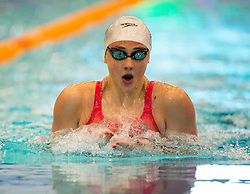 Chloe Tutton on her way to second place and the British title in the Women's 200m Breaststroke final during day three of the 2018 EISM and British Championships at the Royal Commonwealth Pool, Edinburgh.