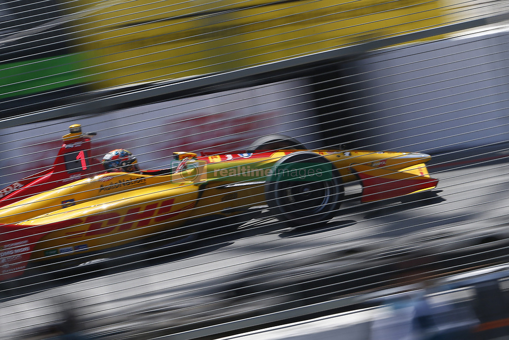 April 13, 2018 - Long Beach, California, United States of America - April 13, 2018 - Long Beach, California, USA: Ryan Hunter-Reay (28) takes to the track to practice for the Toyota Grand Prix of Long Beach at Streets of Long Beach in Long Beach, California. (Credit Image: © Justin R. Noe Asp Inc/ASP via ZUMA Wire)