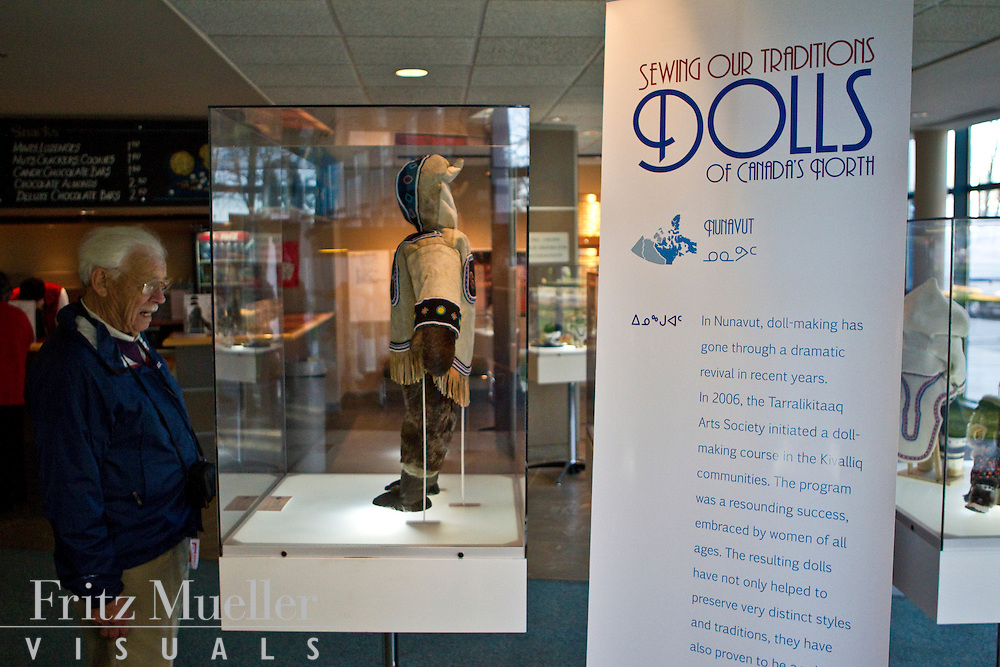 Sewing our Traditions - Dolls of Canada's North exhibit at Gateway Theatre, Richmond