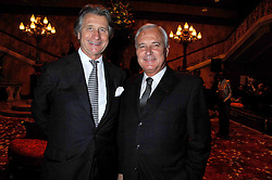 Left to right, ARNAUD BAMBERGER MD of Cartier UK and BERNARD FORNAS CEO of Cartier at a party to celebrate the launch of the 'Inde Mysterieuse' jewellery collection held at Lancaster House, London SW1 on 19th September 2007.<br />