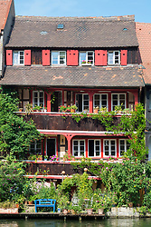 Old houses on waterfront in Little Venice in Bamberg Bavaria Germany