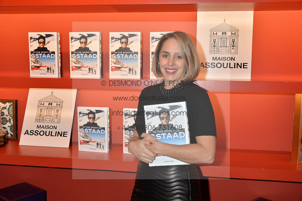 ***UK_MAGAZINES_OUT***<br /> LONDON, ENGLAND 30 NOVEMBER 2016: <br /> Mandolyna Theodoracopulos at the launch of In The Spirit of Gstaad at Maison Assouline, Piccadilly, London hosted by Mandolyna Theodoracopulos and Homera Sahni England. 30 November 2016.