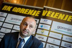 Zeljko Babic during press conference when Zeljko Babic signs as new head coach of RK Gorenje Velenje, on April 7th, 2017 in Velenje, Slovenia. Photo by Martin Metelko / Sportida