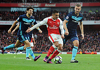 Football - 2016 / 2017 Premier League - Arsenal vs. Middlesbrough<br /> <br /> Alexis Sanchez of Arsenal and Ben Gibson of Middlesbrough at The Emirates.<br /> <br /> COLORSPORT/ANDREW COWIE