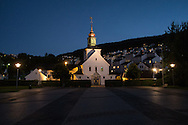 A church in the city of Bergen, Norway.