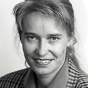 NLD/Huizen/19911114 - Raadslid Johanna Visser-Rebel CDA ractie Huizen