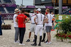 Devos Pieter, Van Dijck Marc, BEL, Bruynseels Niels, BEL<br /> Olympic Games Tokyo 2021<br /> © Hippo Foto - Dirk Caremans<br /> 07/08/2021