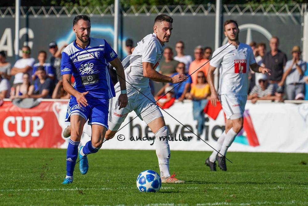 15.09.2019; Wohlen; FUSSBALL SCHWEIZER CUP - FC Wohlen - FC Luzern;<br /> Thomas Schiavano (Wohlen) Otar Kakabadze (Luzern) <br /> (Andy Mueller/freshfocus)