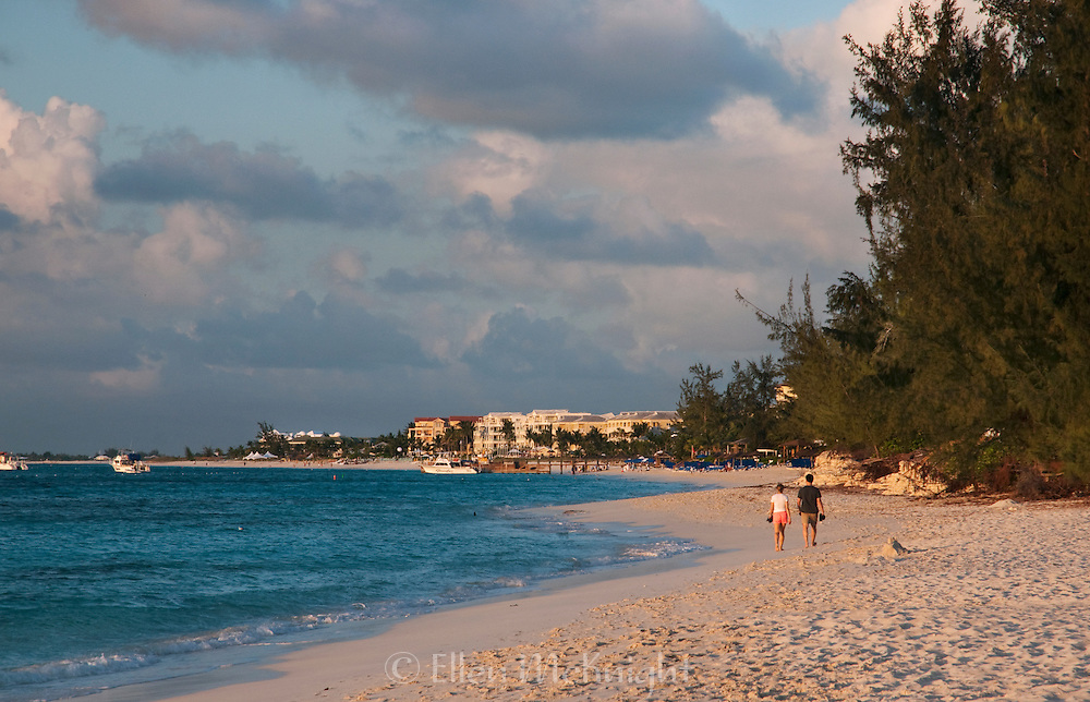 Sunset walk on Grace Bay in Providenciales, Turks & Caicos