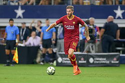July 31, 2018 - Arlington, TX, U.S. - ARLINGTON, TX - JULY 31: AS Roma defender Davide Santon (18) handles the ball during the International Champions Cup between FC Barcelona and AS Roma on July 31, 2018 at AT&T Stadium in Arlington, TX.  (Photo by Andrew Dieb/Icon Sportswire) (Credit Image: © Andrew Dieb/Icon SMI via ZUMA Press)