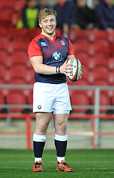 Billy Keast prop for England (Exeter Chiefs) warms up before facing Wales in Six Nations U20 - Mandatory by-line: Paul Knight/JMP - Mobile: 07966 386802 - 11/03/2016 -  RUGBY - Ashton Gate Stadium - Bristol, England -  England U20 v Wales U20 - Six Nations U20