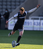 Rugby Union - 2020 / 2p021 Gallagher Premiership - Round 16 - Newcastle Flacons vs Bristol Bears - Kingston Park<br /> <br /> Toby Flood of Newcastle Falcons converts a conversion to make it 7-0<br /> <br /> Credit: COLORSPORT/BRUCE WHITE