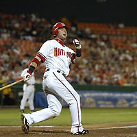 01 June 2007:  Washington Nationals center fielder Ryan Church (19) fouls a ball off against the San Diego Padres.  The Nationals defeated the Padres 4-3 in 10 innings at RFK Stadium in Washington, D.C.  ****For Editorial Use Only****