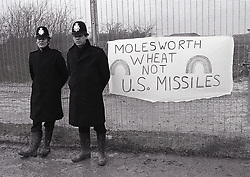 RAF Molesworth anti-nuclear CND Easter demo, UK 8 April 1985