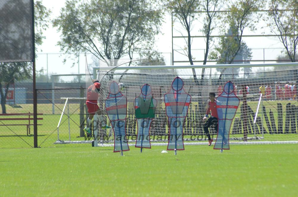 Metepec, México (Agosto 22, 2016).- Aspectos del entrenamiento de los Diablos Rojos del Toluca en sus instalaciones de Metepec.  Agencia MVT / José Hernández.