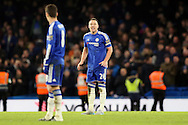 John Terry, the Chelsea captain shouting at Oscar of Chelsea. Barclays Premier league match, Chelsea v Everton at Stamford Bridge in London on Saturday 16th January 2016.<br /> pic by John Patrick Fletcher, Andrew Orchard sports photography.