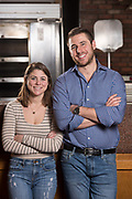 Photo by Mara Lavitt<br /> Old Saybrook, CT<br /> December 11, 2016<br /> Ben and Molly Zemmel at their parents' restaurant Alfornol