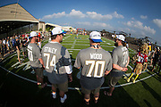 January 27 2016: Lineman on team Jerry Rice during the Pro Bowl Draft at Wheeler Army Base on Oahu, HI. (Photo by Aric Becker/Icon Sportswire)