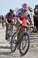 KRISTOFF Alexander (NOR)/ DEGENKOLB John (GER) during the famous cycling race Paris Roubaix with paving stones paths on april 12, 2015 - Photo Tim de Waele / DPPI