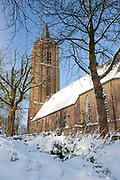 Winter in de Soest, de grote kerk
