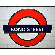 Bond Street Underground - London UK - Artist Designed Custom Border