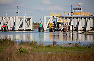 The Morganza flood protection system built to protect parts of Terrebonne Parish from hurricanes and storm surges.